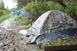 Juneau campground closes for winter, displacing homeless