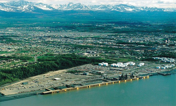 An Aerial view of the Port of Anchorage from 1999. (Photo: By U.S. Army Corps of Engineers)