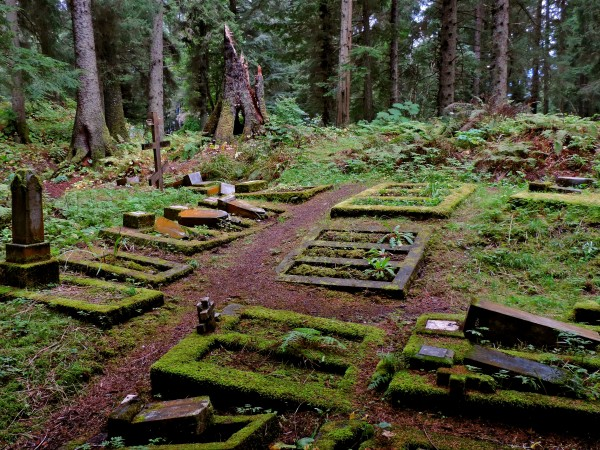"""This fall in Sitka, the Russian Orthodox Cemetery was vandalized four times by a group of juveniles. Bob Sam, the 30-year volunteer caretaker, said it """"broke my spirit."""" (Photo courtesy of Bob Sam)"""