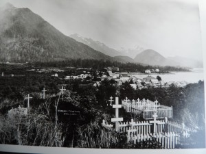 The Russian Orthodox Cemetery in an undated photo. Sam says the oldest marker he's found is from 1833. (Photo courtesy of Bob Sam)