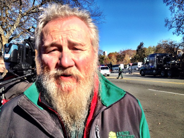John Schank, the Fairbanks trucker who brought the tree