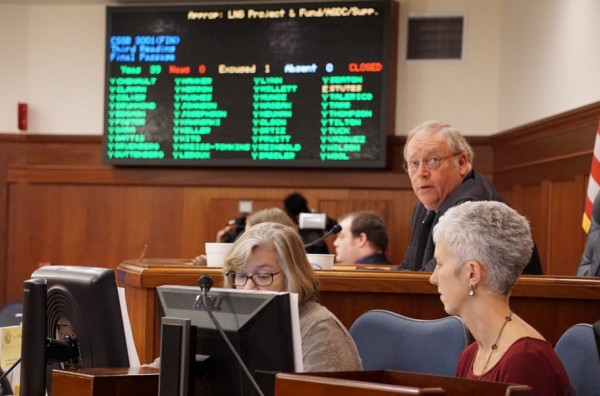 Alaska House of Representatives passes SB3001. Photo: Jeremy Hsieh/KTOO.