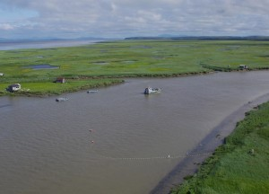 The Nushagak District, shown in this June 2015 photo, is one of five commercial fishing districts in Bristol Bay. (KDLG photo)