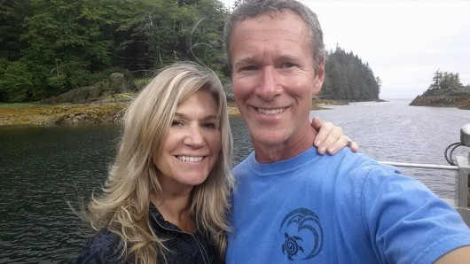 LaDonna and Ole Gundersen take a selfie out on the fishing grounds. (Photo courtesy the Gundersens)