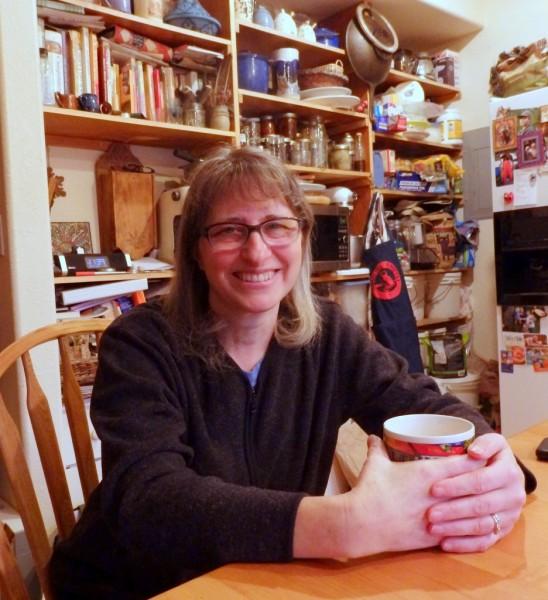 Martha Mackowiak at her home in Haines on Wednesday. (Jillian Rogers)