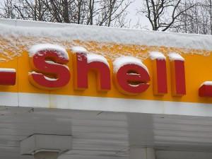A Shell station in Anchorage, Alaska after a fall snow storm. Photo: John Ryan/KUCB