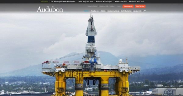 Screen shot of Audubon's investigative feature on Shell's 'Arctic assault.'