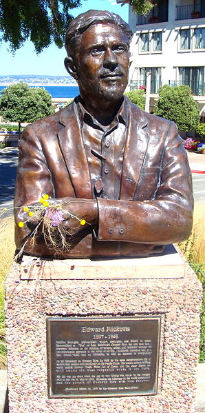 Bust Of Ed Ricketts in Monterey, California. Photo: Amadscientist, Wikimedia Commons.