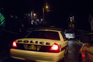 Juneau Police closed Kennedy Street between 5th and 4th Streets as they investigated the death of Juneau Mayor Greg Fisk on the evening of Monday November 30th. (Photo by: Mikko Wilson / KTOO)