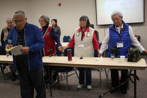 "Tlingit elder John Martin said boarding schools ""was a form of prison."" (Photo by Lisa Phu/KTOO)"