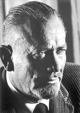 John Steinbeck. Unknown photographer. Nobel Foundation. Accessed via Wikimedia Commons.
