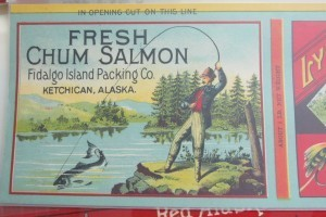 History sheathed in canned salmon labels