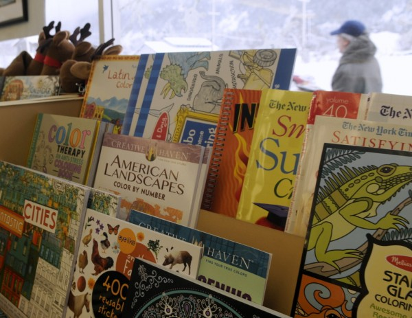 Coloring books for adults are flying off the shelves at the Babbling Book. (Jillian Rogers)