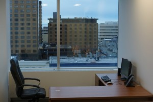 Less than a year after moving into a new leased building with 30 offices, an auditorium, and several conference rooms, the Legislature appears increasingly likely to take a cheaper alternative. (KTUU / Austin Baird)