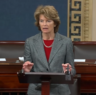 Sen. Lisa Murkowski speaks on the senate floor. (YouTube screenshot/Sen. Lisa Murkowski)