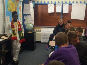 Exchange student from Cameroon visits Russian Orthodox community