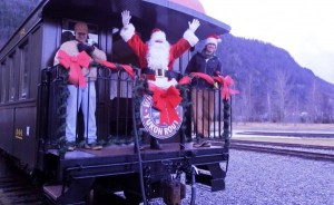 Santa Claus spotted en route to Skagway