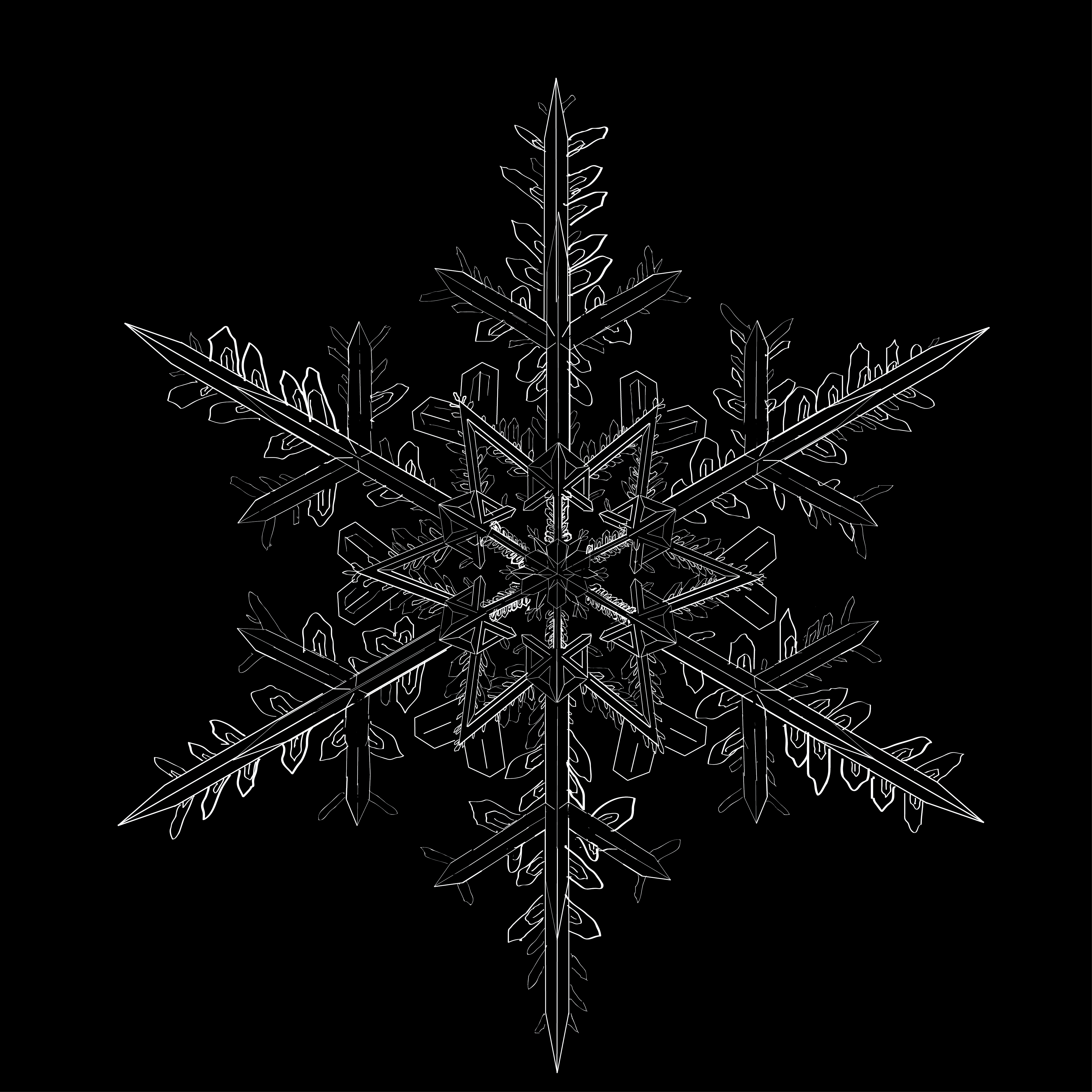 how to draw a realistic snowflake