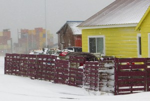 For some, with winter snow comes financial stress over heating bills. CREDIT CLARK FAIR via KDLG.org.