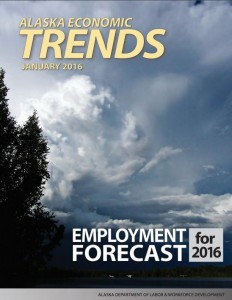 The most recent forecast from the Alaska Department of Labor predicts only modest job losses in 2016.