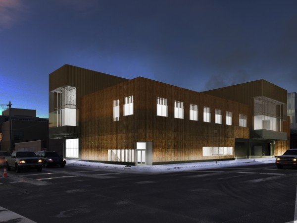 The Anchorage Museum's proposed expansion, as seen from 6th and A. Photo courtesy Anchorage Museum.