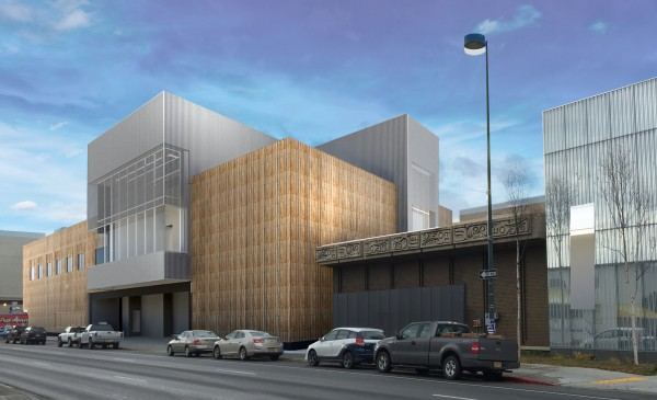 The museum expansion as seen from 6th and B streets. Photo courtesy Anchorage Museum.
