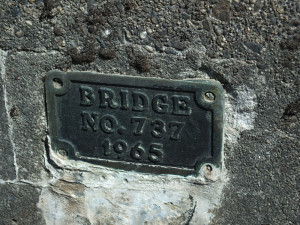 Construction plate for the old Brotherhood Bridge. (Photo by Matt Miller/KTOO)