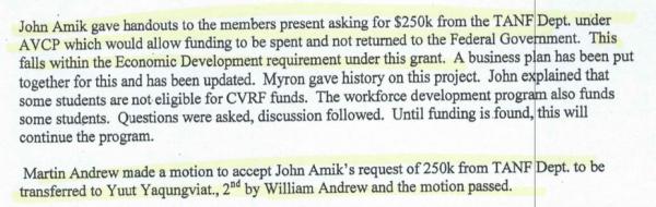 John Amik asking for flight school money