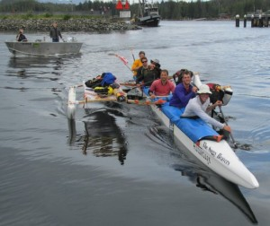 Team Soggy Beavers was one of the 15 teams to finish last year's Race to Alaska. (KRBD file photo)