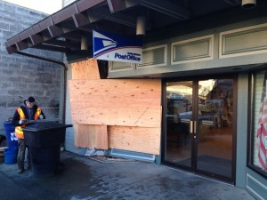 Driver plows into Sitka post office
