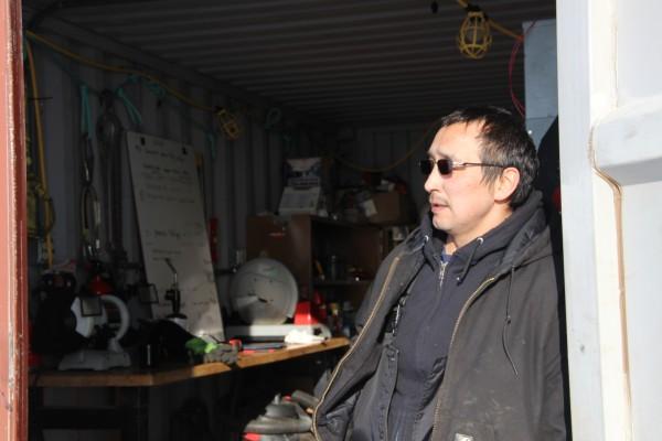 Benny Daniel is the lead wind tech in Kwigillingok. Photo: Rachel Waldholz/APRN