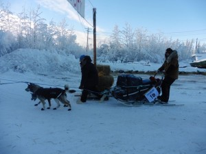 Sass leads Yukon Quest mushers out of Eagle