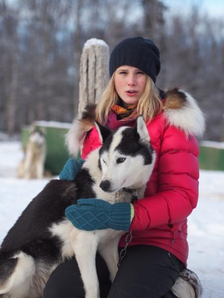Lisbet Norris is a third generation musher of Siberian Huskies. Photo: Zachariah Hughes.