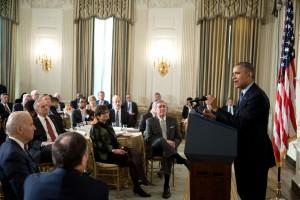 President Obama hosted governors, including Gov. Walker. Photo: Pete Souza/White House.)