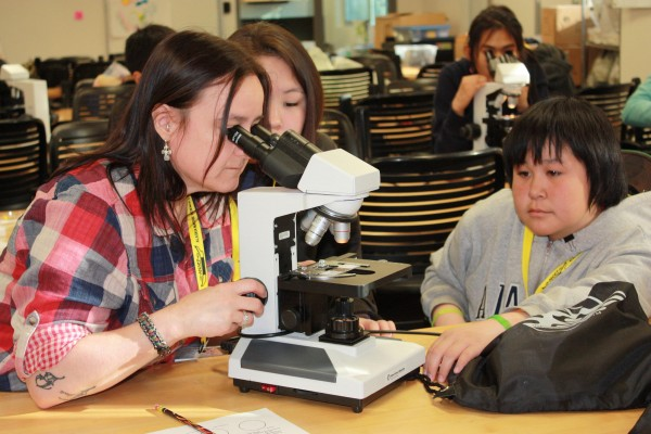 Middle school students at an ANSEP summer academy in 2013. (Photo courtesy ANSEP)