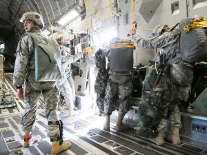 About 500 troops from the 4-25th Airborne Brigade are participating in exercise Talisman Saber in the South Pacific. (Photo: Zachariah Hughes/KSKA)