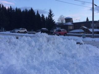 Downtown Homer on the morning of the 22nd (Photo by Quinton Chandler, KBBI - Homer)