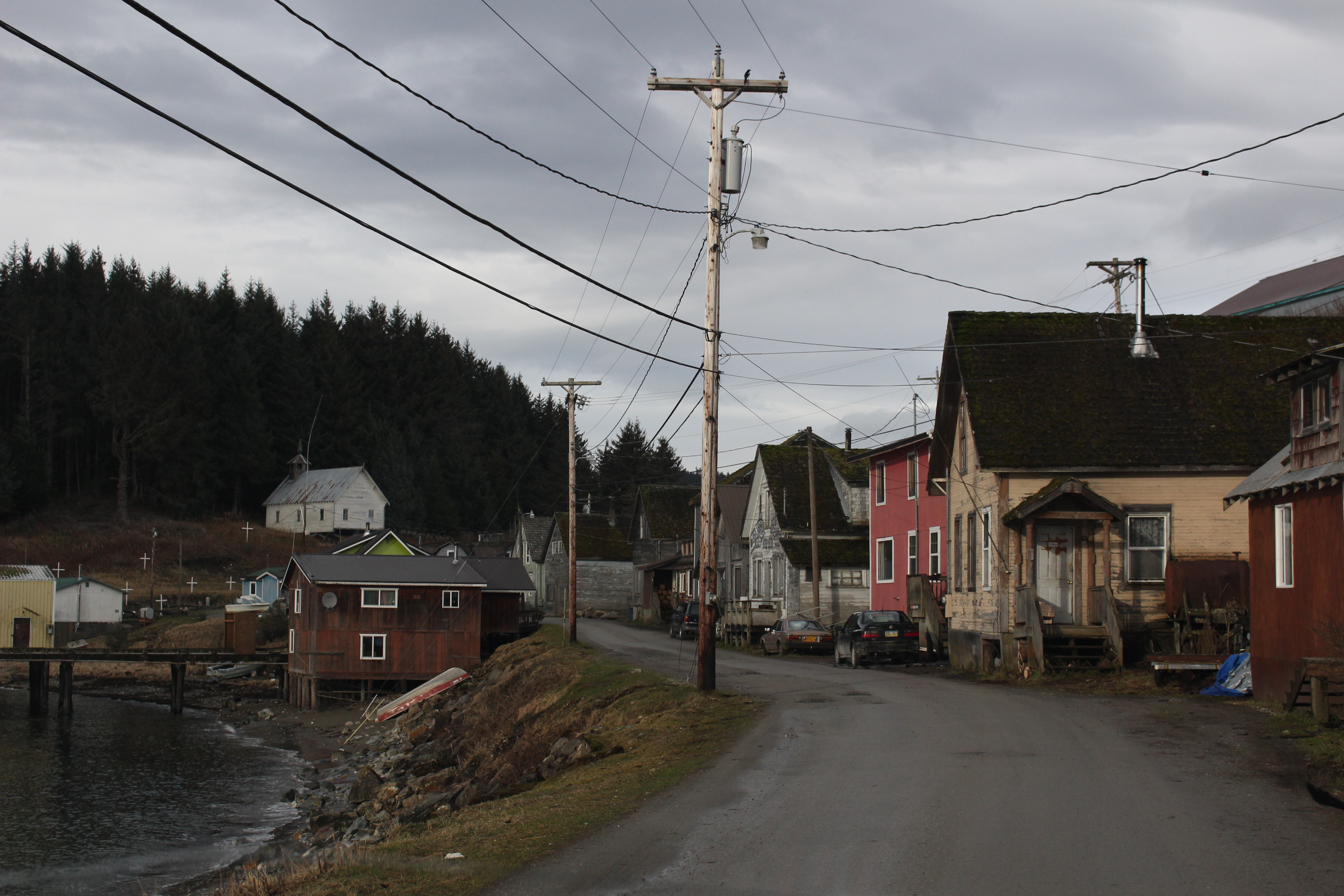 The small village of Angoon is the home to about 400 people. (Photo by Elizabeth Jenkins – KTOO)