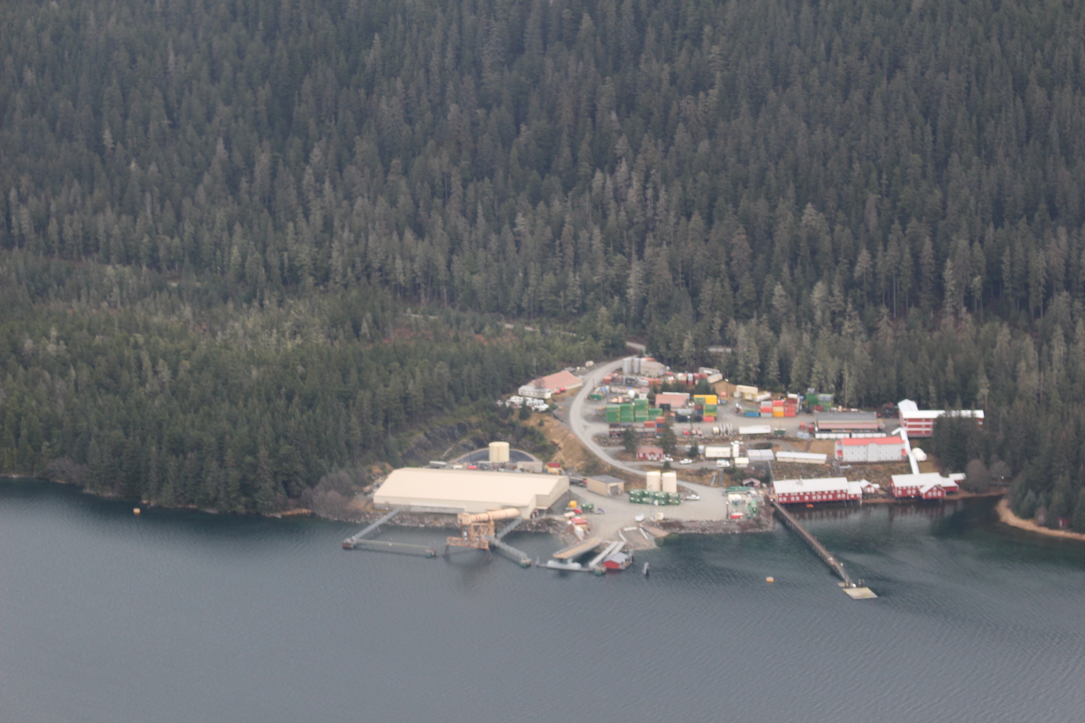 Hecla's Greens Creek Mine located in Hawk Inlet. (Photo by Elizabeth Jenkins - KTOO)