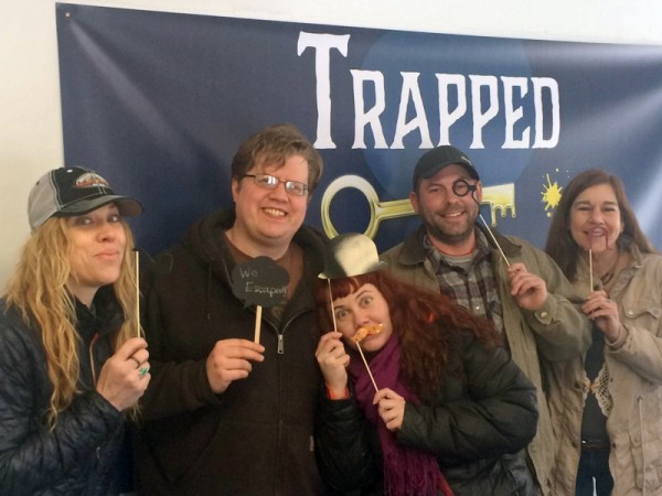 The escape room team, after escaping and saving Talkeetna. (Photo courtesy Phillip Manning/KTNA)