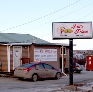 Fili's Pizza. (Photo by Dean Swope / KYUK)