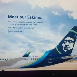 Screenshot of the Alaska Airlines redesigned greeting page before it was changed. (Photo by Blossom Twitchell)
