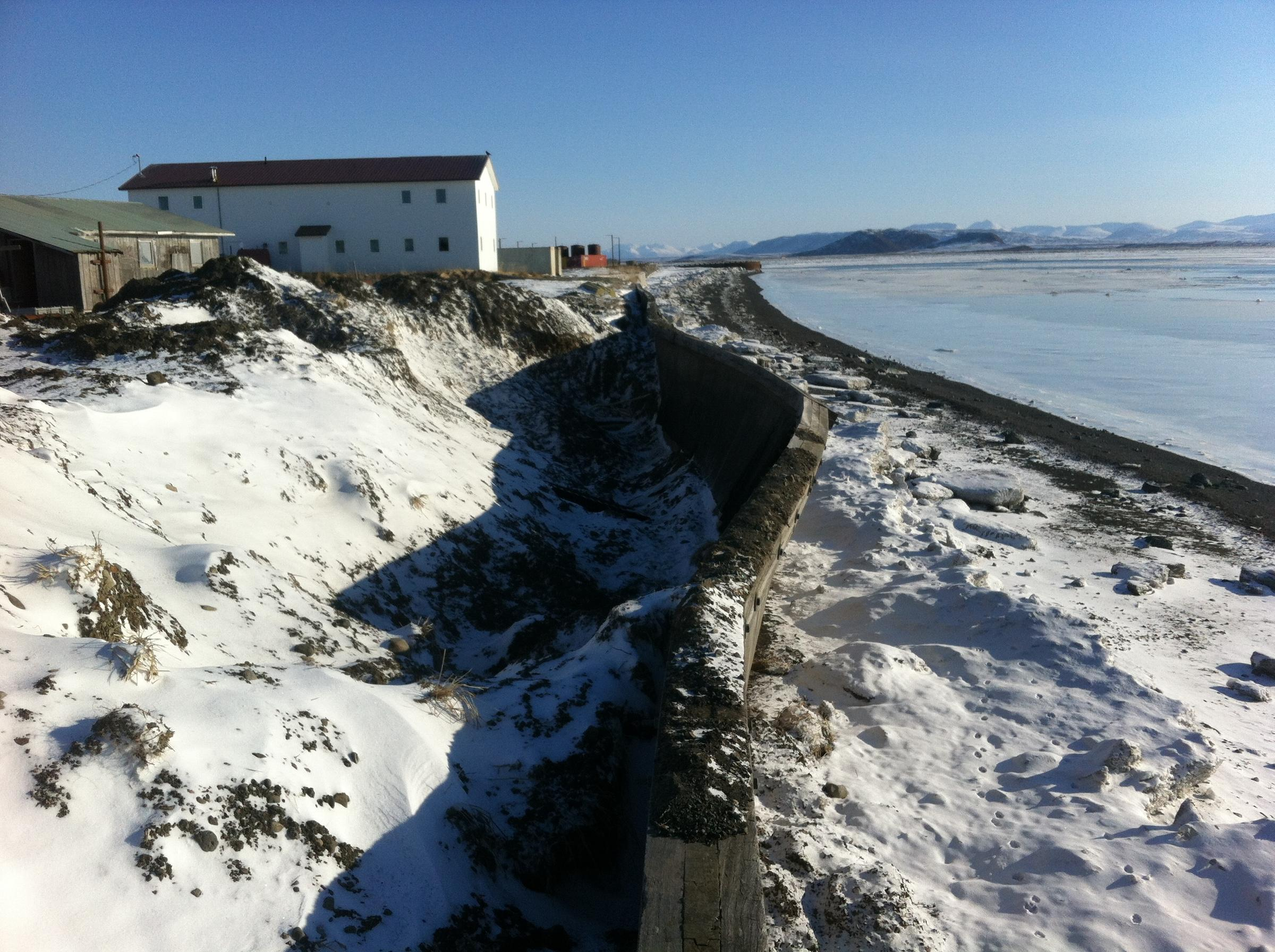 Coastline in Togiak, March 2015. (Photo courtesy of City of Togiak)
