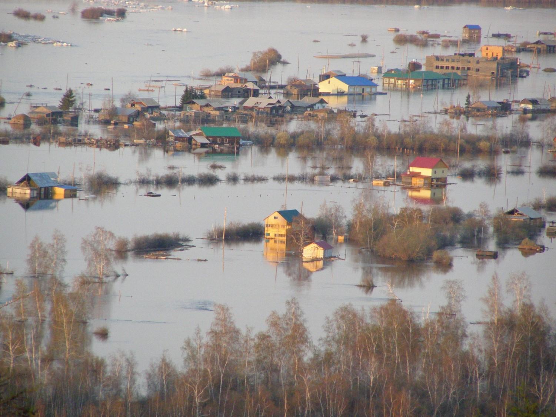 Photo of the Edeytsy Flood (Photo courtesy of Semeyon Yadreev, Head of Edeytsy Administration)