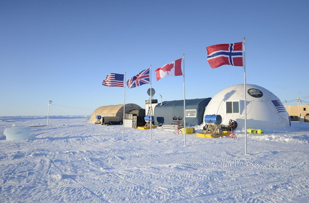 Ice Camp Sargo, located in the Arctic Circle, served as the main stage for Ice Exercise (ICEX) 2016. (Photo courtesy of Specialist 2nd Class Tyler Thompson/U.S. Navy via Flickr Creativ Commons)