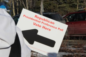 The poll was volunteer-run, unlike state primaries run by the Division of Elections. Photo: Rachel Waldholz/APRN