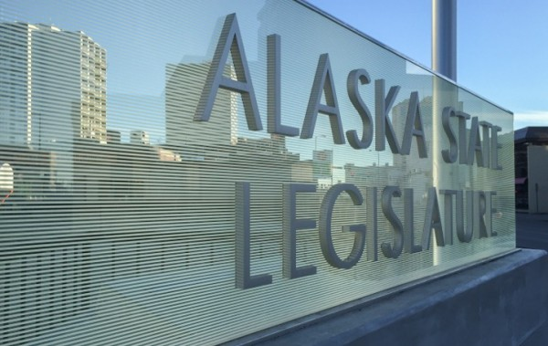 The sign outside the Anchorage Legislative Information Office, March 4, 2016. (Photo by Megan Ahleman)