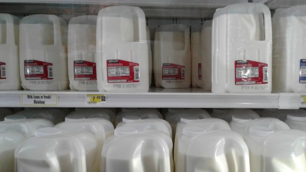 The PFD has more impact in rural Alaska, where high unemployment combines with the high cost of living ( including groceries like this milk at Bethel's AC grocery store) to make dividend checks a crucial cash infusion. Photo: Rachel Waldholz/APRN