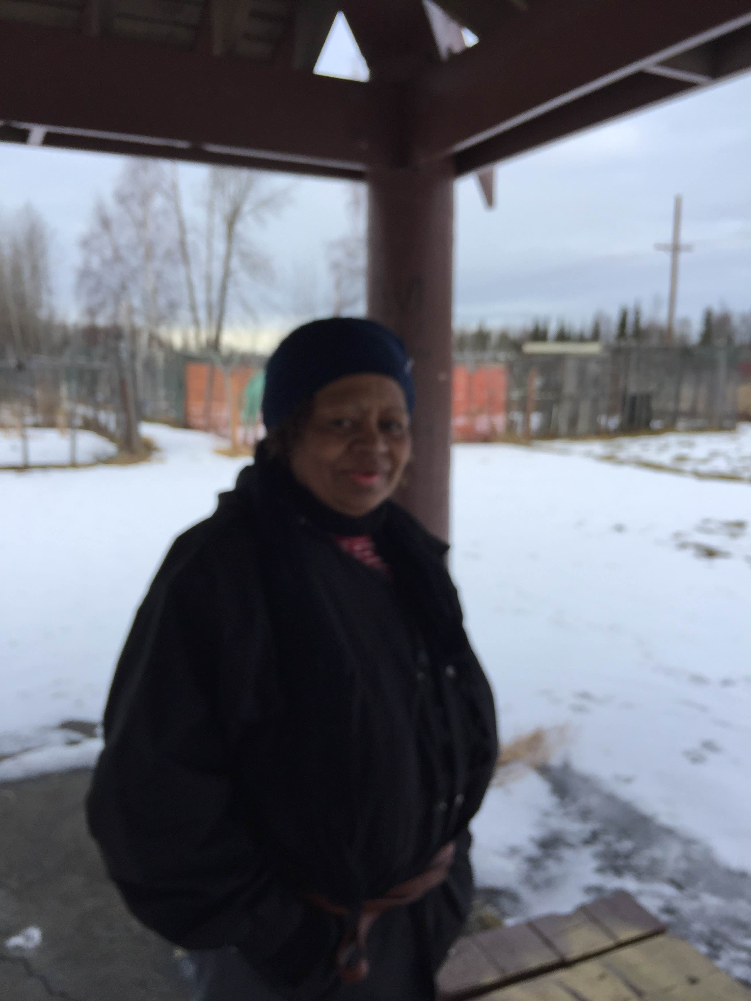 Bulou Croker of Anchorage (Photo by Wesley Early, APRN - Anchorage)