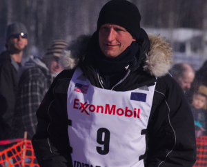 Charley Benja, pictured here at the Willow restart, has scratched from Iditarod 44. (Photo by Ben Matheson/Alaska Public Media)